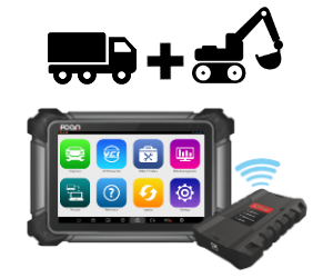 Diagnostic scan tool for heavy vehicles (trucks) and machinery (contruction/agricultural)