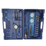 Photo of blue FPSA 800 fuel pressure tester with gauges